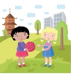 children world without prejudice vector image