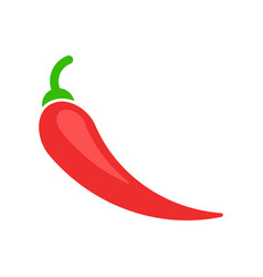 Chili pepper in flat style spicy peppers on white vector