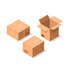 Delivery tare icon set vector