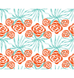 Exotic bouquet pattern vector