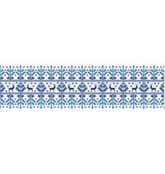 Folk seamless pattern vector