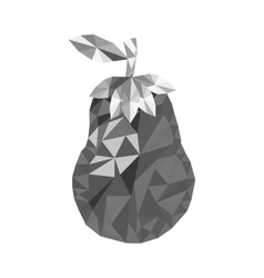 Fruit mosaic icon image vector