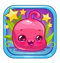 Funny jelly alien character vector image