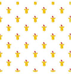 garden scarecrow icon flat style vector image