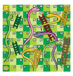Green Snake and Ladder Game vector image