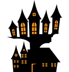 house in the style of halloween vector image