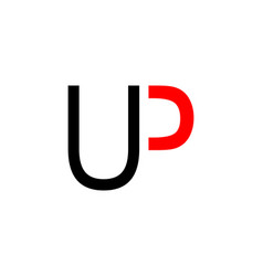 initial up letter logo template design vector image