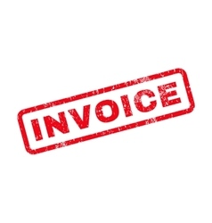 Invoice Text Rubber Stamp vector