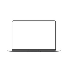 laptop mock up with blank frameless screen vector image