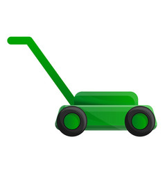 Lawn mower icon cartoon style vector