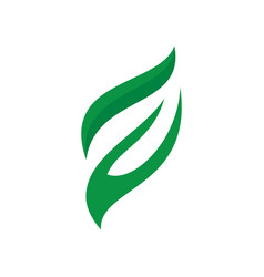 leaf eco sign logo vector image