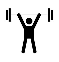 man uping weight vector image