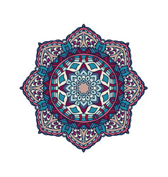 mandala pattern flower design vector image