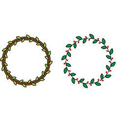 Minimalistic color wreaths vector