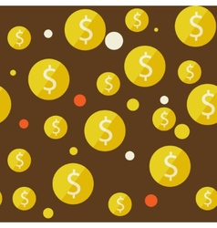 money seamless background vector image