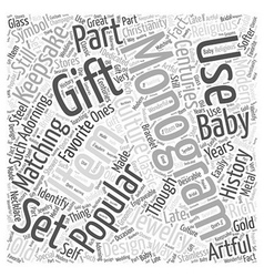 Monograms Word Cloud Concept vector