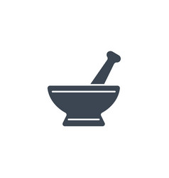 mortar and pestle related glyph icon vector image