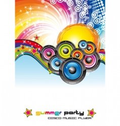 music dance flyer vector image