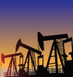 Oil wells vector