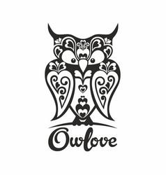 Owl love vector