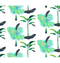 Palm tree pattern2 vector image vector image