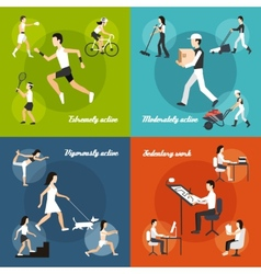 Physical Activity Set vector