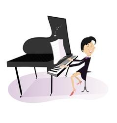 Pianist woman vector
