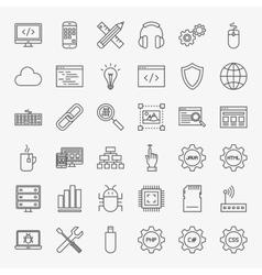 Programming Line Icons Set vector