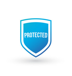 Protection shield concept protected sign isolated vector
