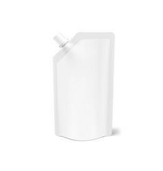 Realistic blank clear spout pouch doy bag vector