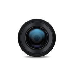 Realistic detailed 3d camera lens vector