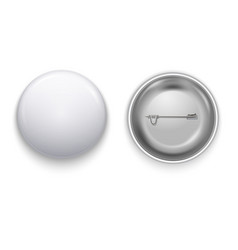 realistic white blank badge vector image