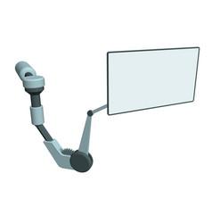 robotic arm monitor3d vector image