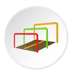 Running with obstacles icon cartoon style vector image