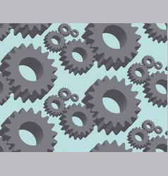 seamless pattern cogwheel in 3d vector image