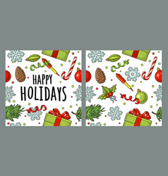 seamless pattern for merry christmas and happy new vector image