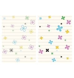 Seamless pattern stripes and flowers vector