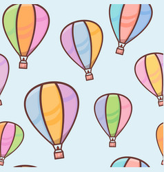 seamless pattern with colorful balloons with vector image