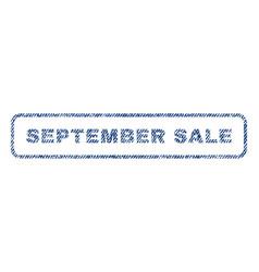 September sale textile stamp vector