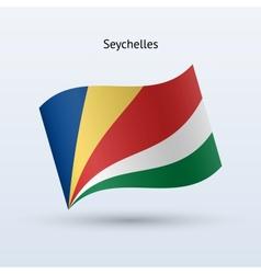 Seychelles flag waving form vector image