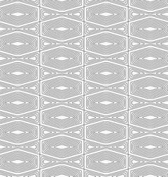 Slim gray squished hexagon vector