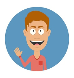 Smiling men avatar profile Cartoon character Flat vector image