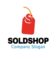 Sold Shop Design vector