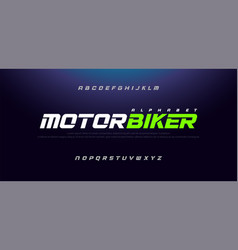 Sport modern italic alphabet font typography vector