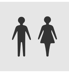 symbol woman and man vector image