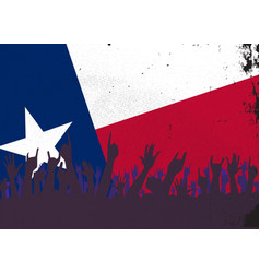 texas state flag with audience vector image