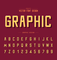texture font and grunge alphabet type letter vector image