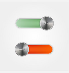 toggle switch on and off on grey background vector image