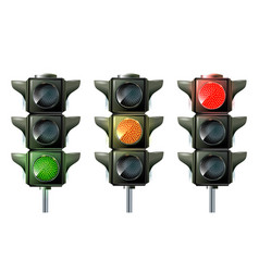 traffic light traffic light sequence vector image