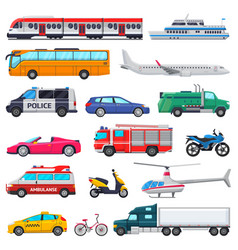 transport public transportable vehicle vector image